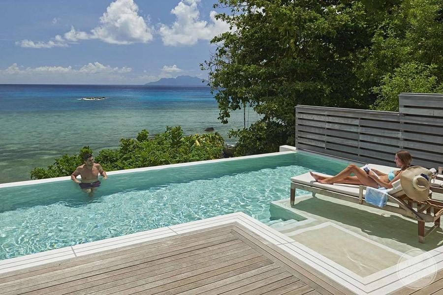 Hilton Seychelles Northolme Resort and Spa Infinity Pool Overlooking Ocean