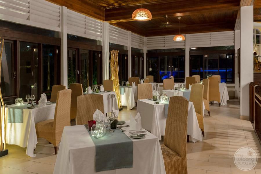 Hotel L'Archipel Seychelles Main Dining