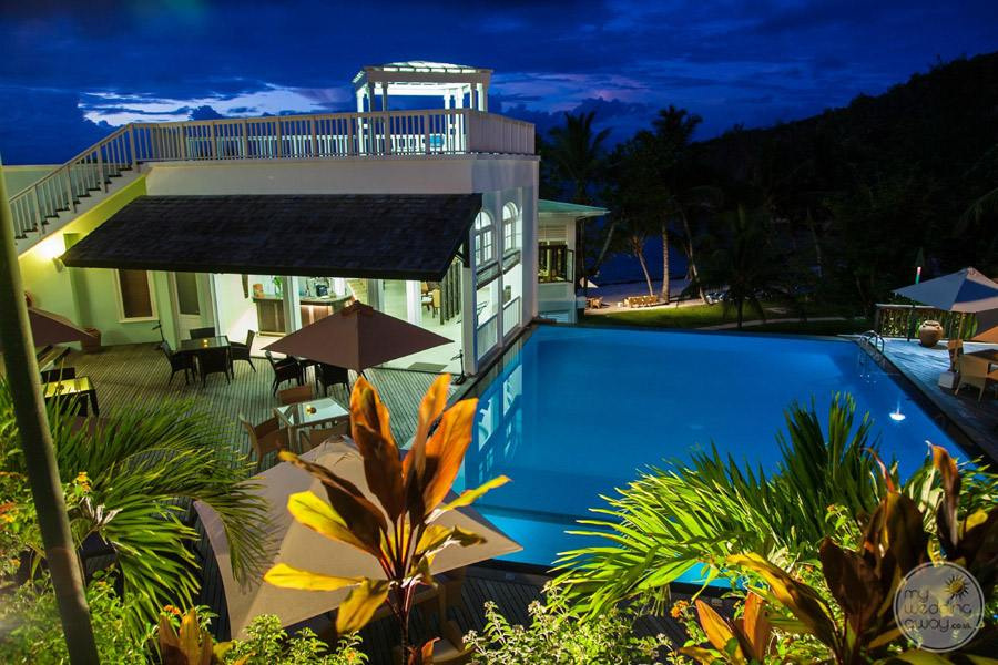 Hotel L'Archipel Seychelles Ariel View at Night