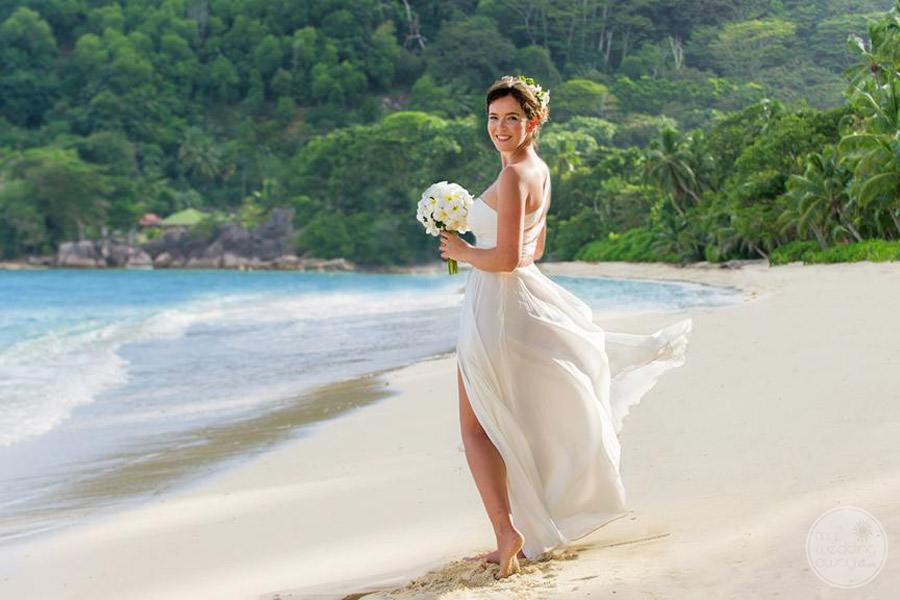 resort bride on beach
