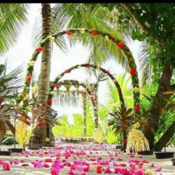 Lily Beach Resort Weddng Arches