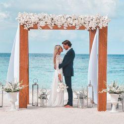 Raffles Meradhoo Beach Wedding Couple