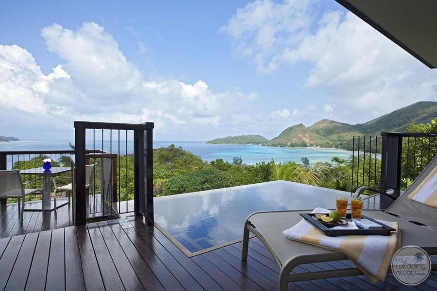 Raffles Seychelles Resort ocean view pool villa