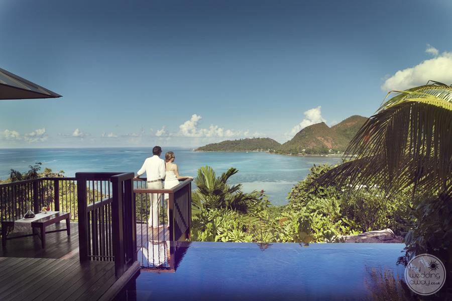 Raffles Seychelles Resort pool terrace