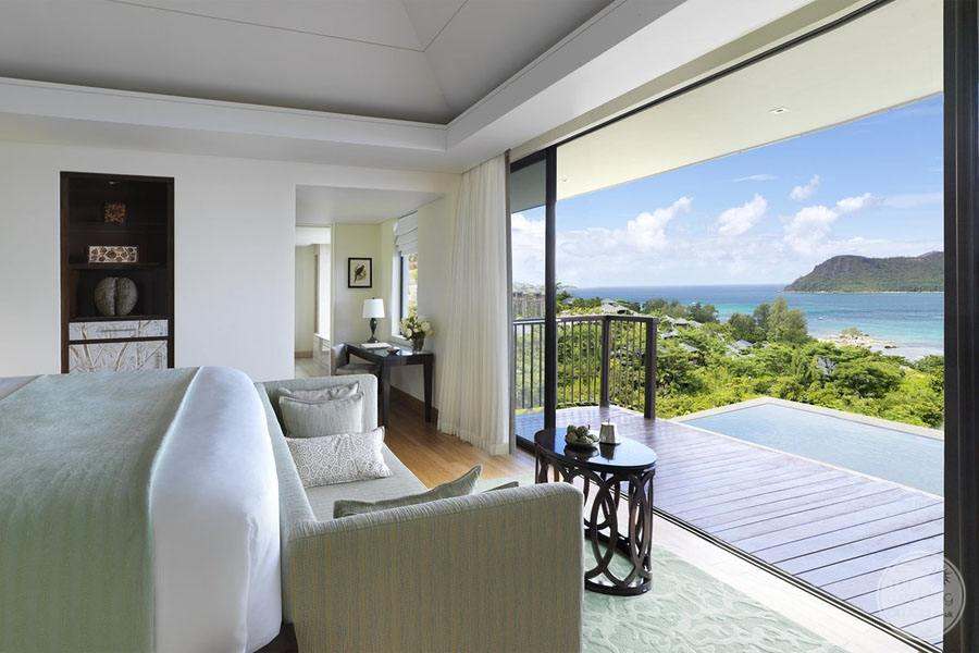 pool villa bedroom with view