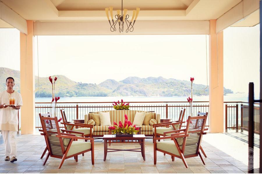Raffles Seychelles Resort reception area