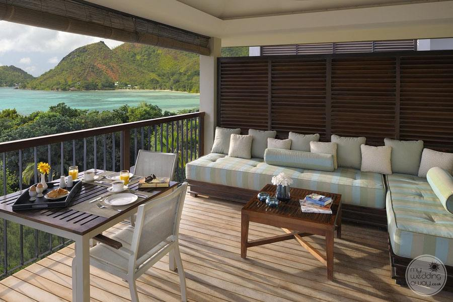 Raffles Seychelles Resort villa pavilion outside deck