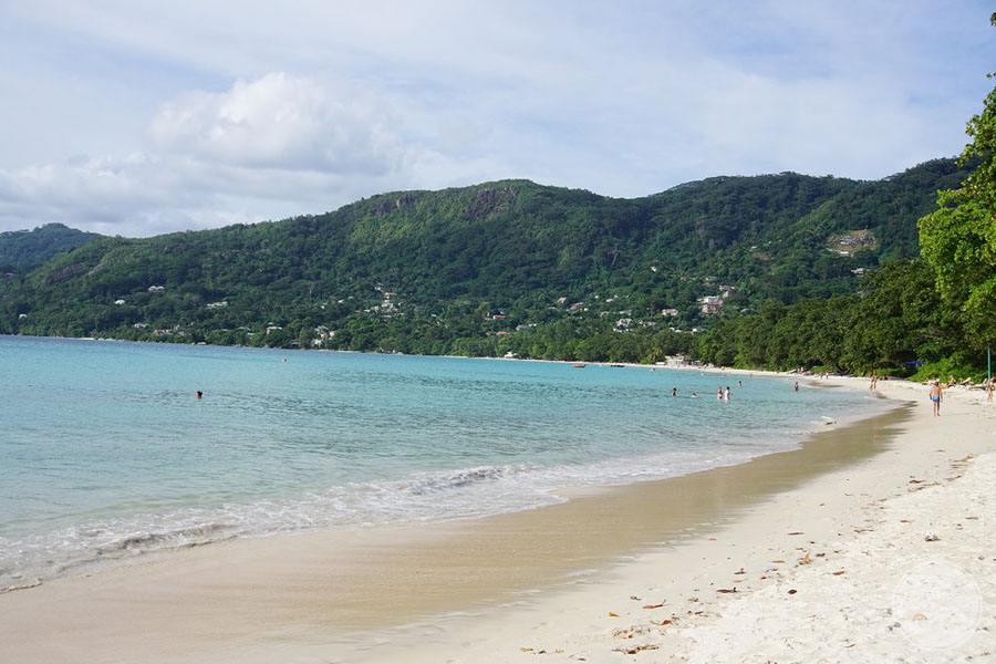 Beachfront with surrounding mountains