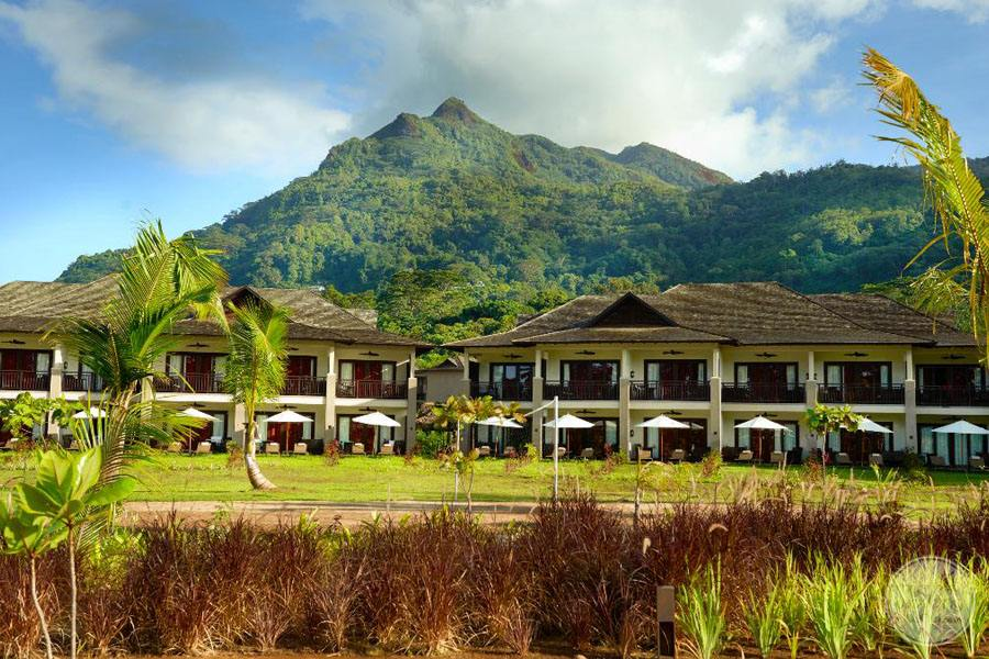 The H Resort Beau Vallon Beach exterior view of buildings