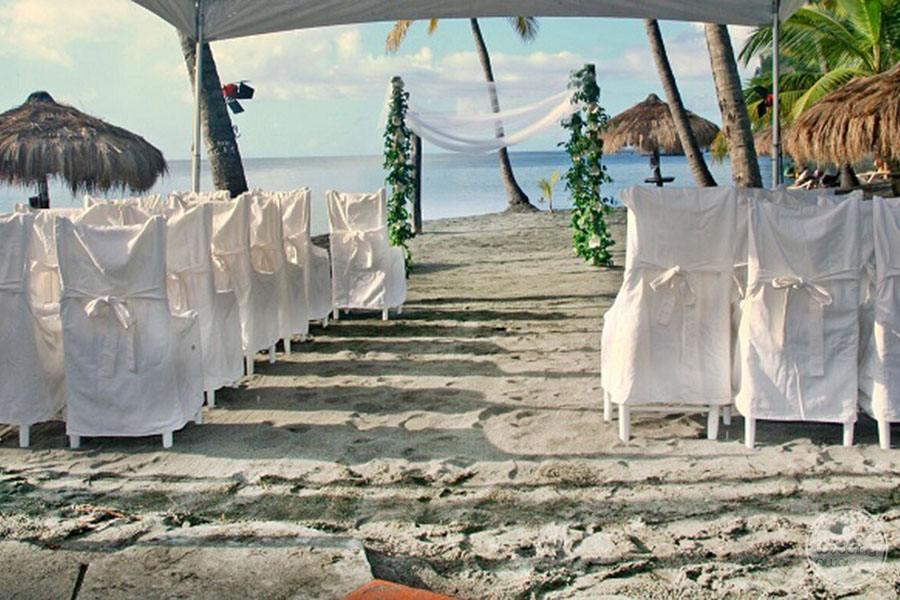 Anse Chastenet Beach Ceremony site