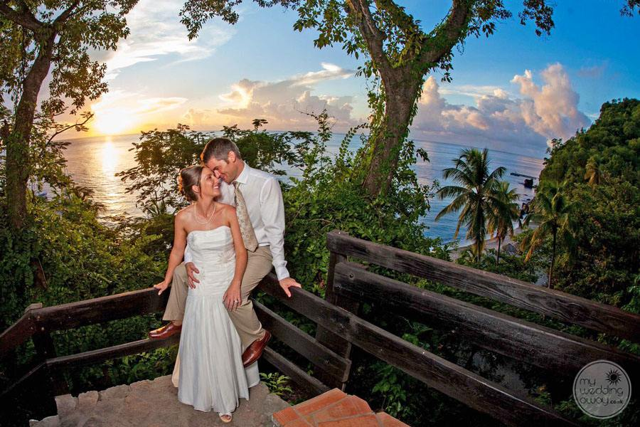 Anse Chastenet Wedding Couple