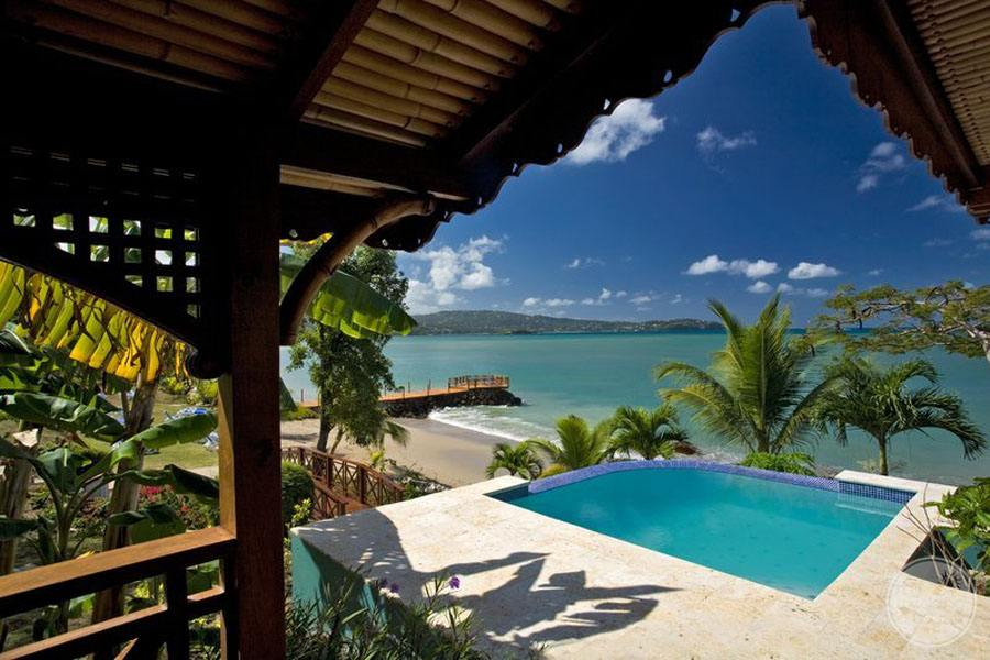 Calabash Cove Guest Room Infinity Pool