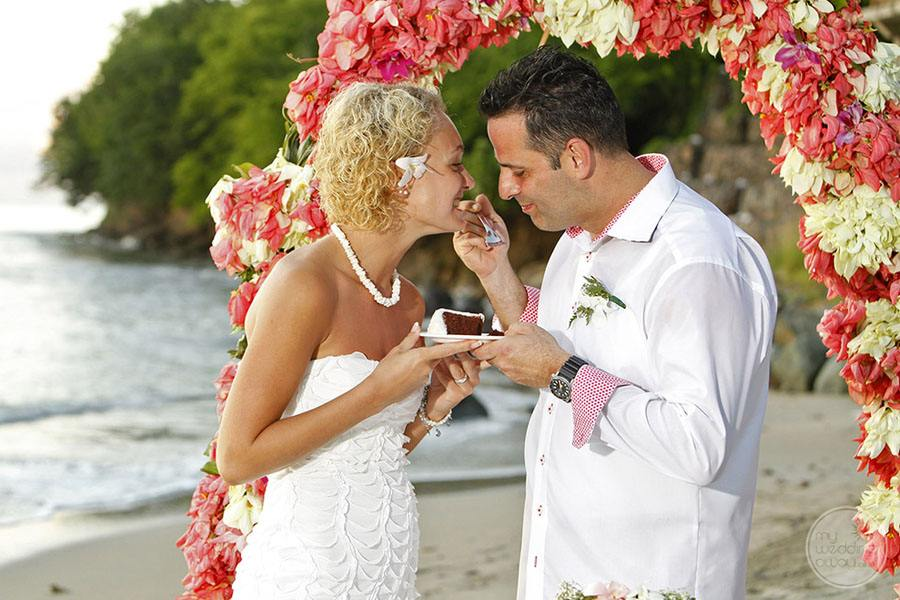 Calabash Cove Wedding Couple
