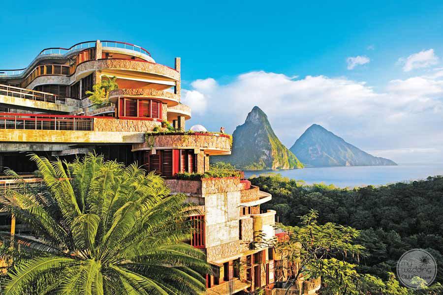 Jade Mountain Aerial View of Resort