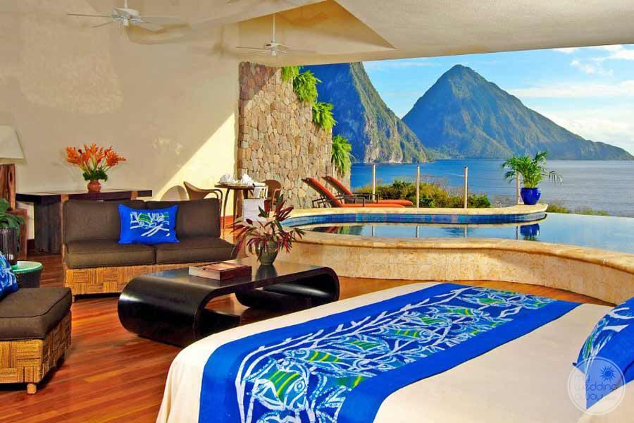 Jade Mountain Bedroom View