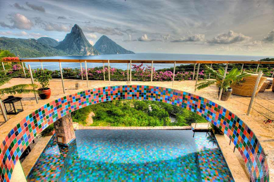 Jade Mountain Deckview of Pool