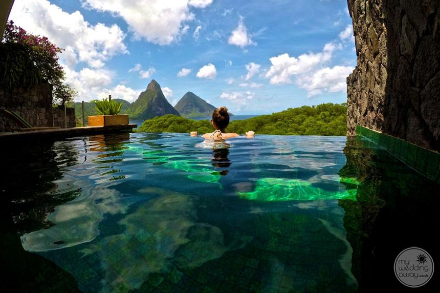 Jade Mountain Infinity Pool with Oceanview