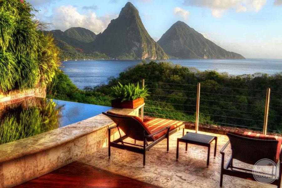Jade Mountain View from Room Deck