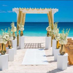 Sandals Grande St Lucian Beach Wedding Set-up