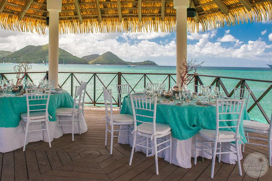 Wedding Reception overlooking the ocean