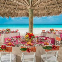 Sandals Halcyon Beach Wedding Venue Setup