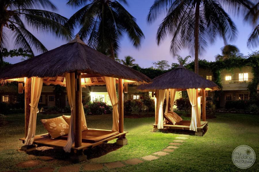 Cabanas at Night