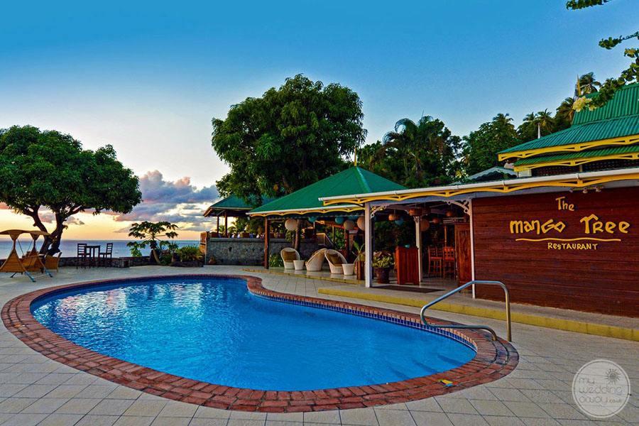 Pool by Restaurant