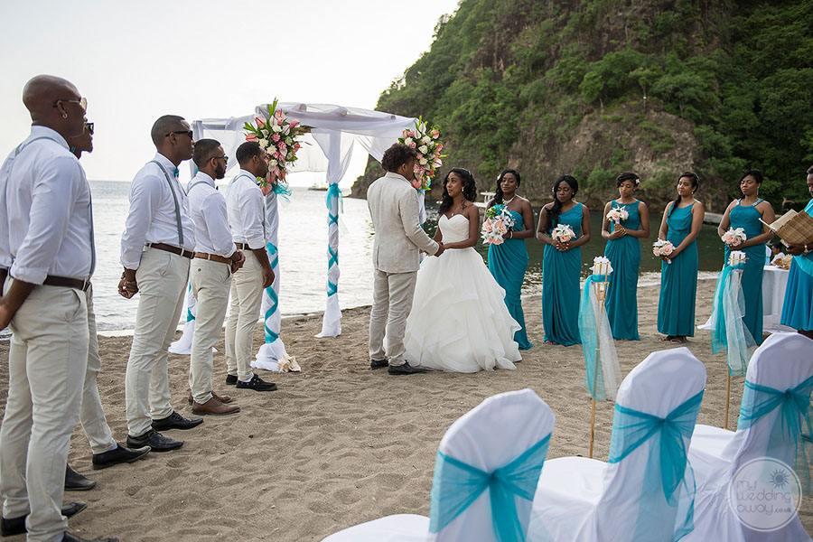 Stonefield Villas Wedding Ceremony on Beach