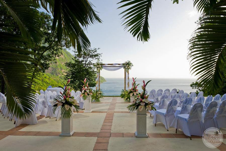 Sugar Beach Wedding Ceremony Site