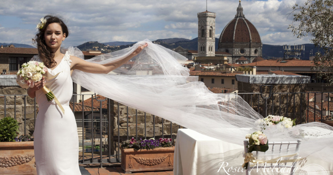 Amazing Florence Italy Medieval Tower Wedding
