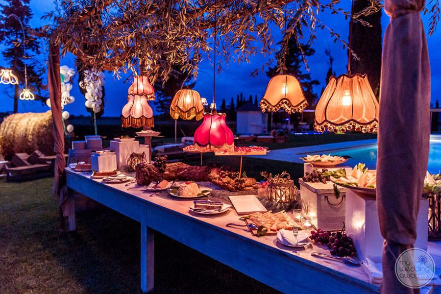 Wedding reception outdoor set up