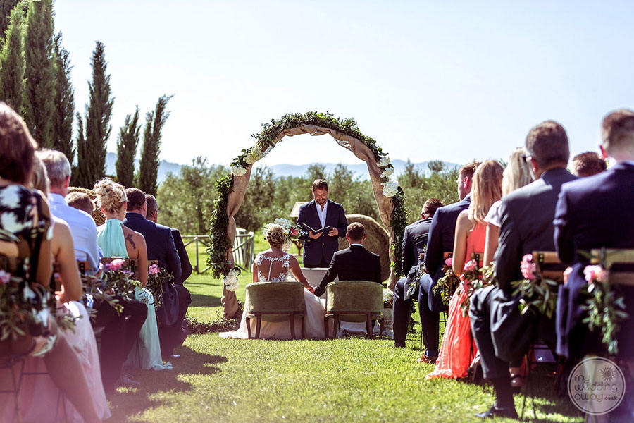 Wedding Ceremony with Guest Seating