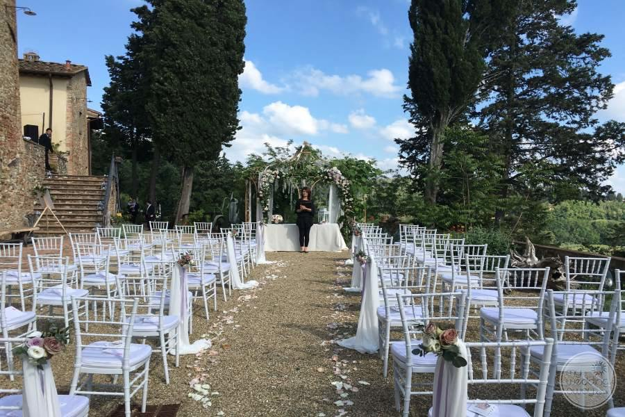 Il Paluffo Hotel Wedding Ceremony Set up