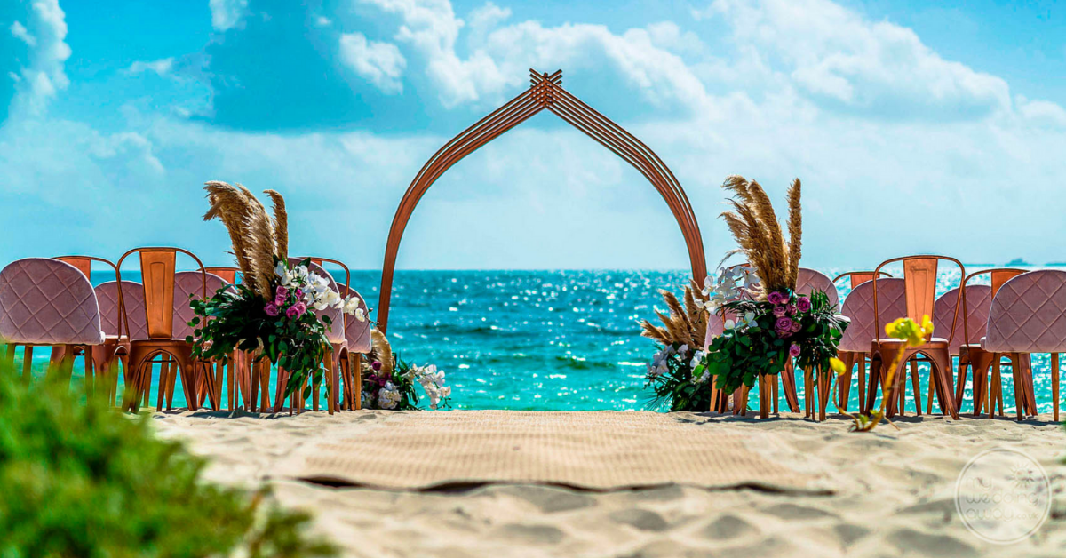 Beautiful beach ceremony venue