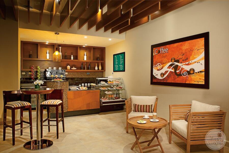 main coffee shop at with pastries and lattes and coffee specialties