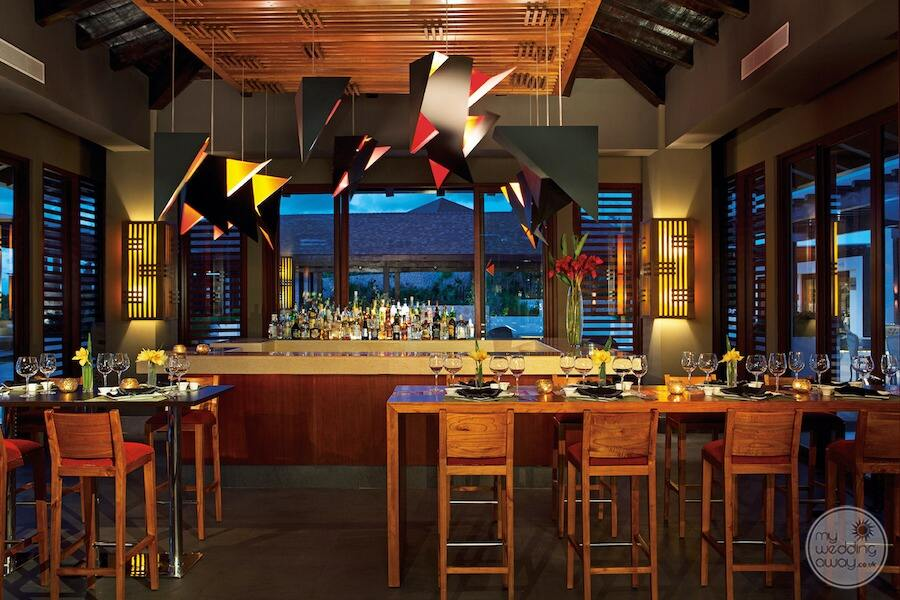 main sushi bar restaurant with hibachi grill and open bar