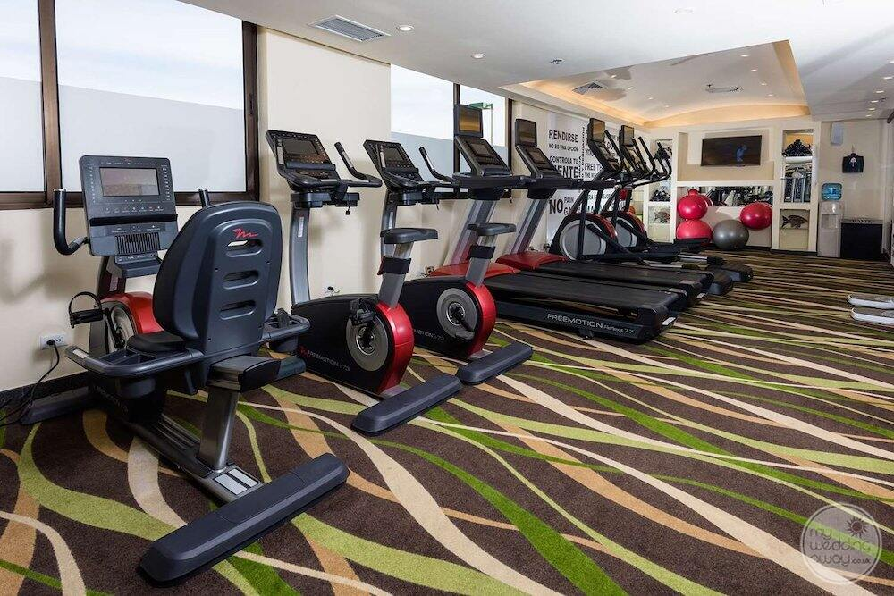 main fitness centre with treadmills and running bikes