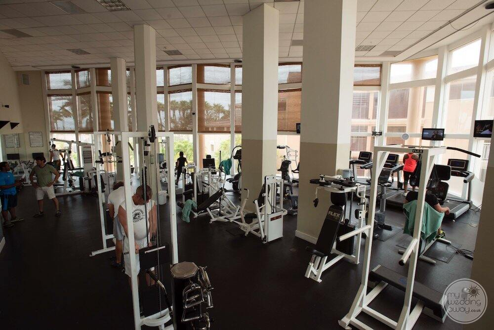 Fitness centre with weights weight equipment treadmills