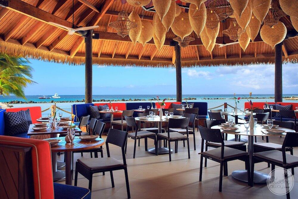 Oceanview restaurant with Jack Terrace lighting and Black leather chairs