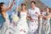 Villa-Del-Palmar-Playa-Mujeres-wedding-couple-with-guests
