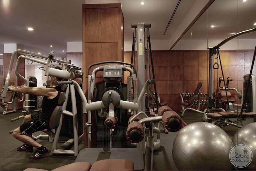 Fitness centre with weight machines exercise equipment and treadmills