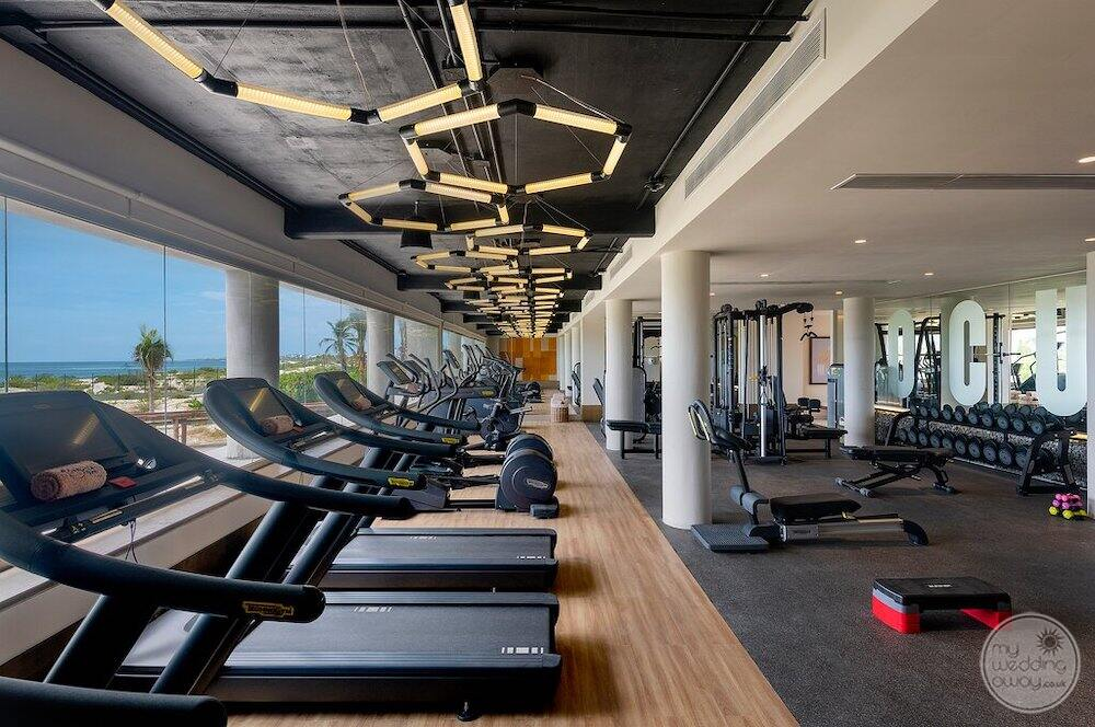 Main fitness centre with treadmills weights and work out machines