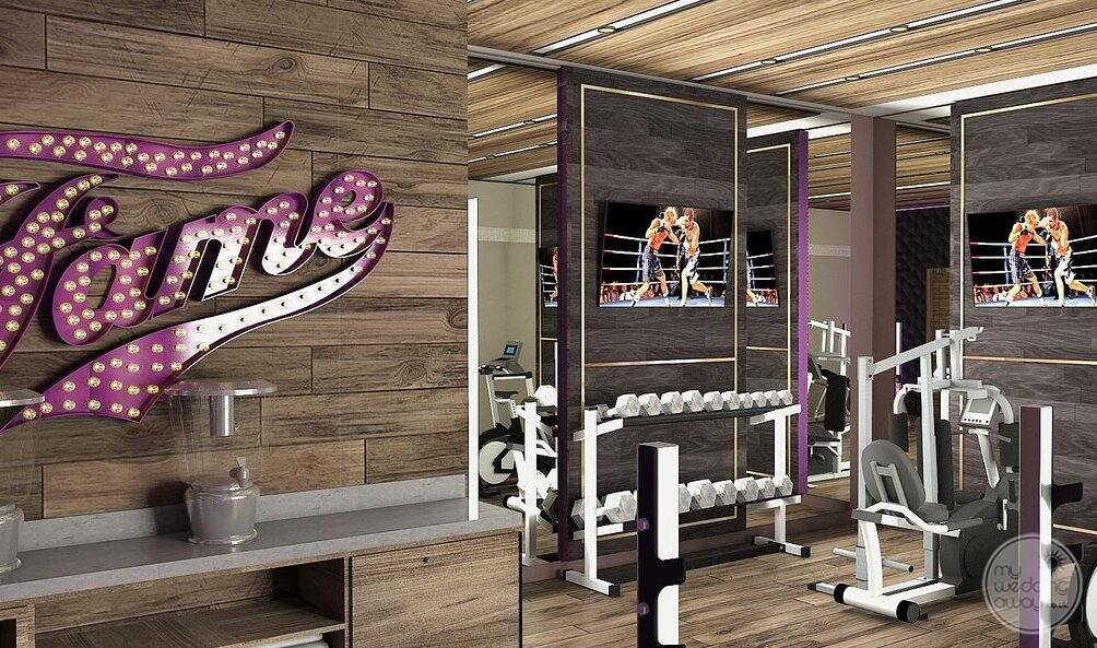 Fitness centres with weight weight machines treadmills
