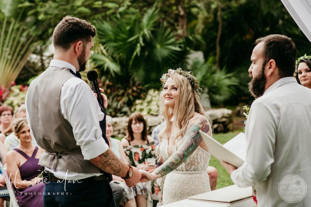Top tip for your wedding is a great tropical setting